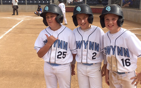3 boys playing for Gwynn BPA